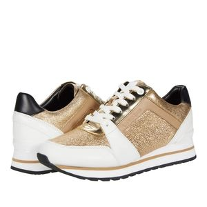 🆕 MICHAEL KORS Billie Leather Sneakers Trainers 6